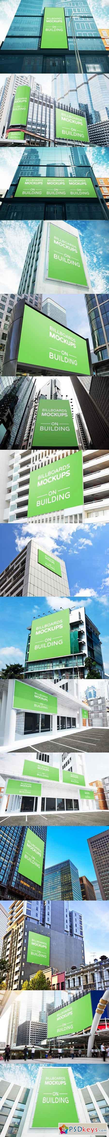 Billboards Mockups on Building Vol.2 1034480