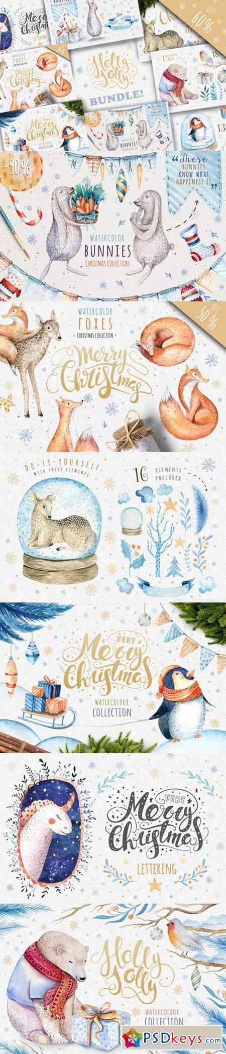 Watercolour Christmas BUNDLE! 991111