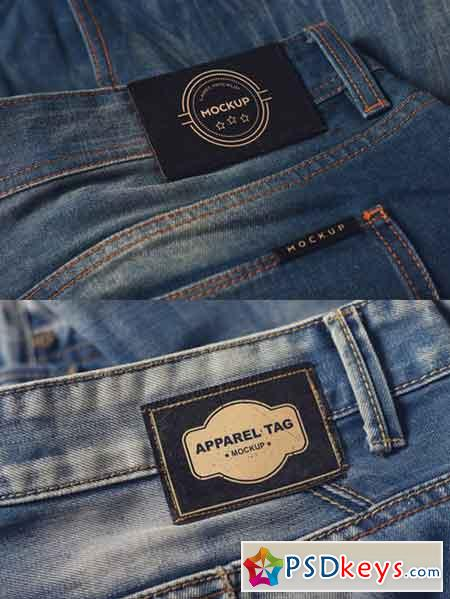 Denim Clothing Label Mockups 1035756