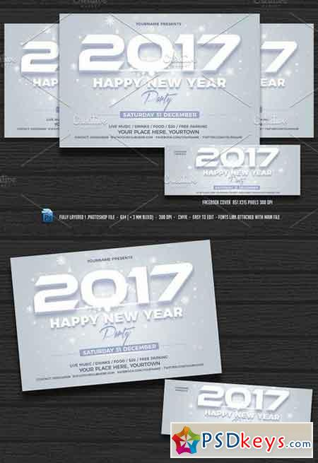 New Year Party Flyer 1020314