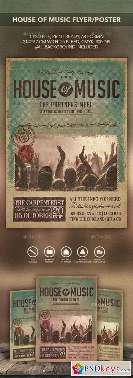 House of music flyer poster 10779372 free download for House music zippyshare
