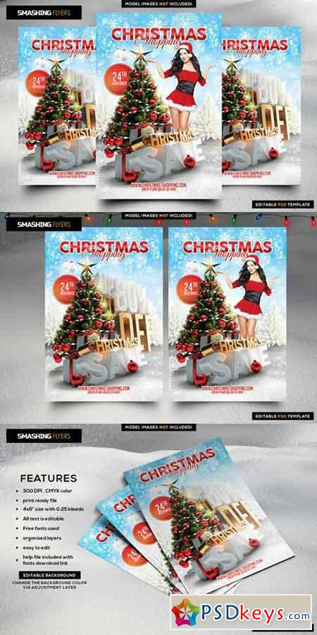 Christmas Shopping Flyer Template 982365