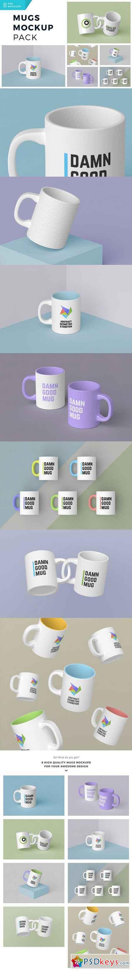 Mugs Mockup Pack 1045701
