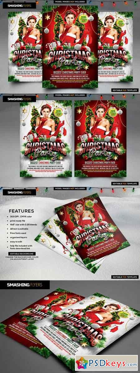Christmas Party Flyer Template 982553