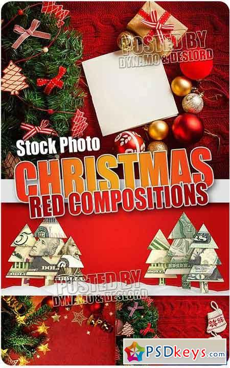 Xmas Red Compositions - UHQ Stock Illustrations