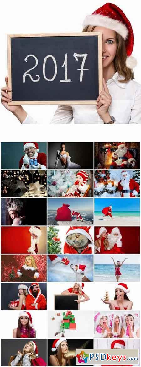 Collection of Christmas Santa Claus Snow Maiden suit coat fur hat 25 HQ Jpeg