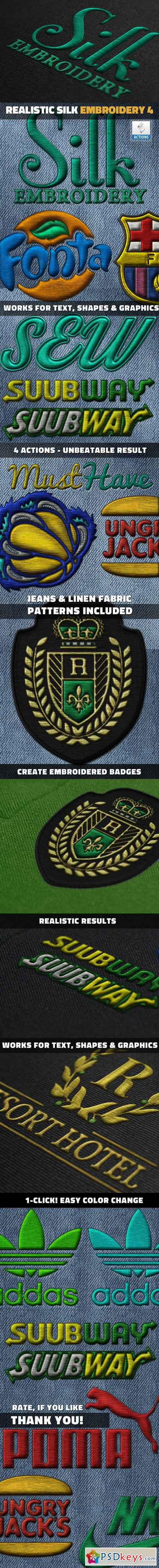 Silk Embroidery Effect Photoshop Action 18532364