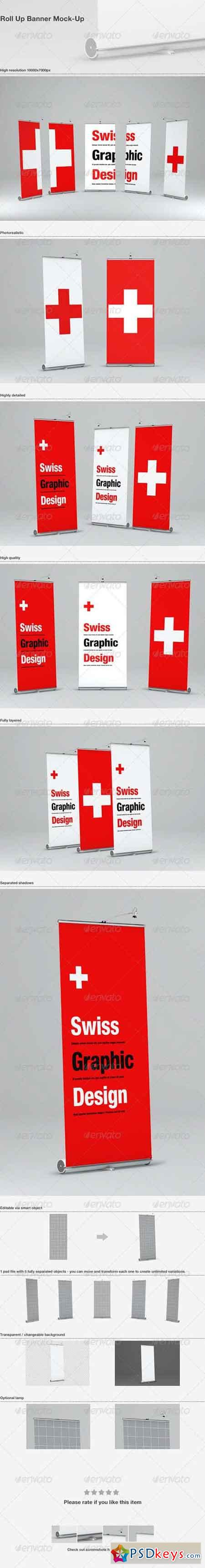 Roll Up Banner Mock-Up 3655759