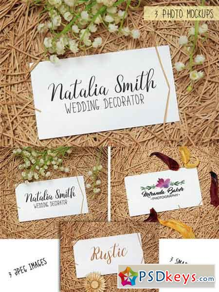 Business Cards Mockups. 3 Stock Photos