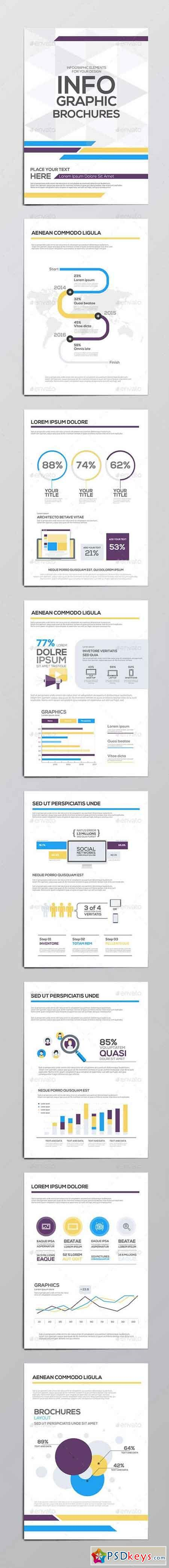 Infographics Elements for Corporate Brochures 13079507