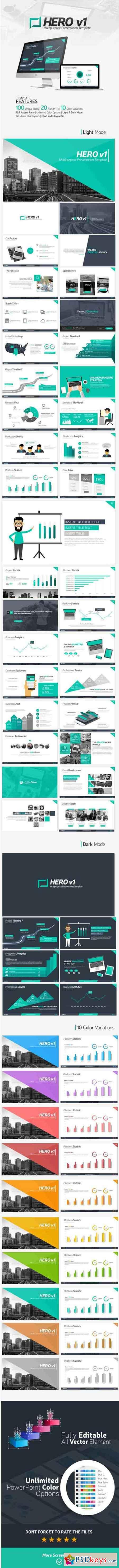 HERO v1 Presentation Template 16318628