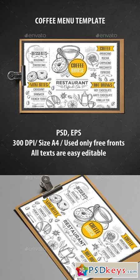 html menu bar templates free download - coffee menu template 16973755 free download photoshop