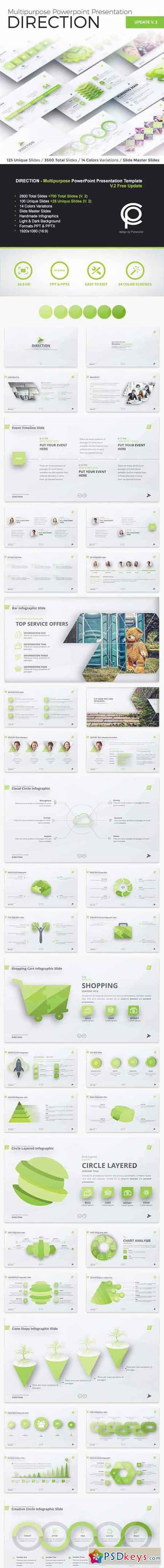 DIRECTION - Multipurpose PowerPoint Presentation 13436004
