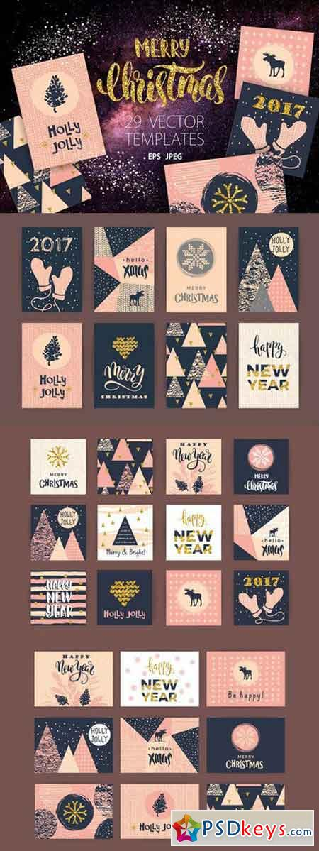 29 Christmas and New Year templates 1018043