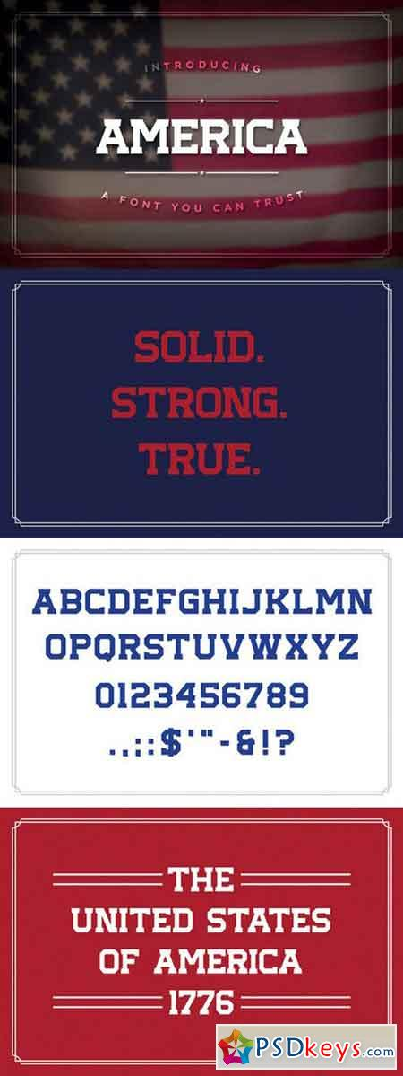 America, the Font 1057190 » Free Download Photoshop Vector Stock