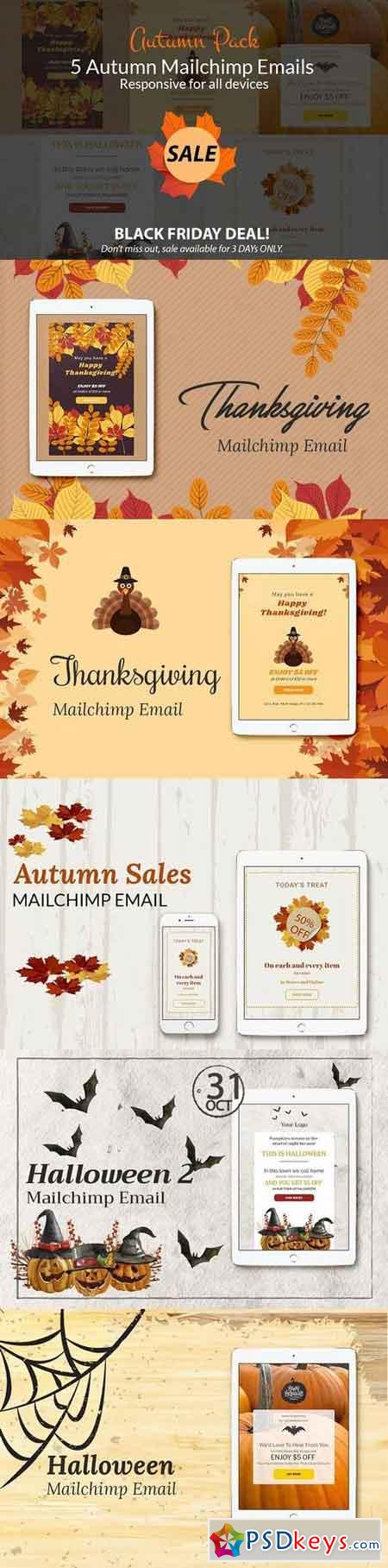 mailchimp calendar template - autumn sales mailchimp emails 1070716 free download