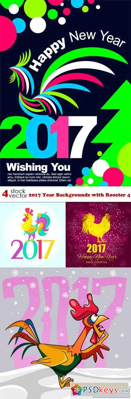 2017 Year Backgrounds with Rooster 4
