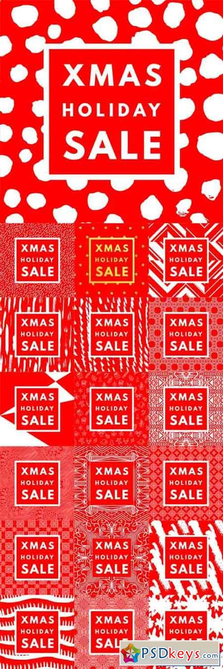 Christmas Holiday Sale Posters