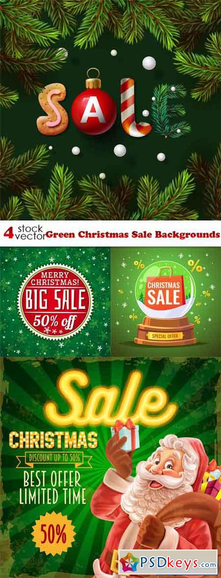 Green Christmas Sale Backgrounds