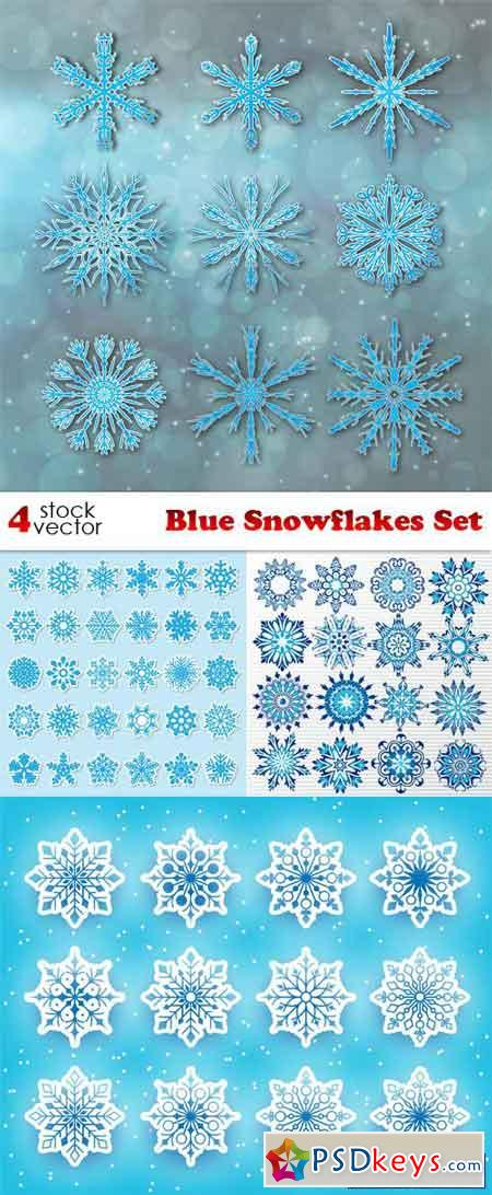 Blue Snowflakes Set