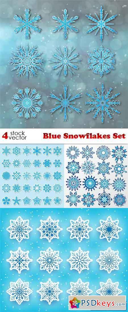 Blue Snowflakes Set