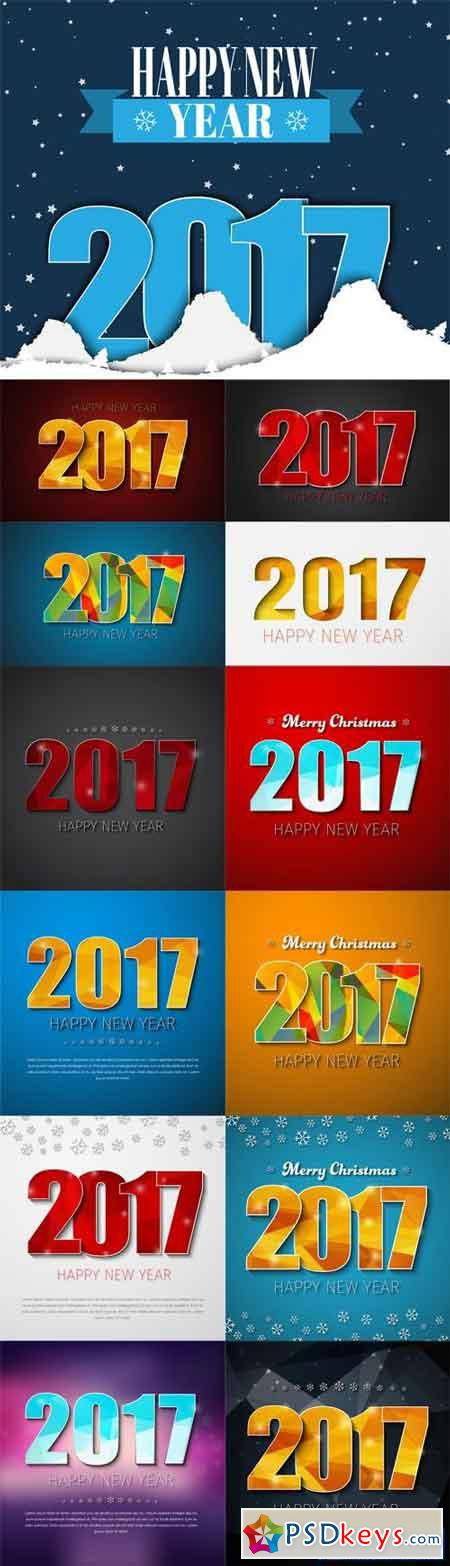 Templates Square Banners (background) Happy New Year 2017