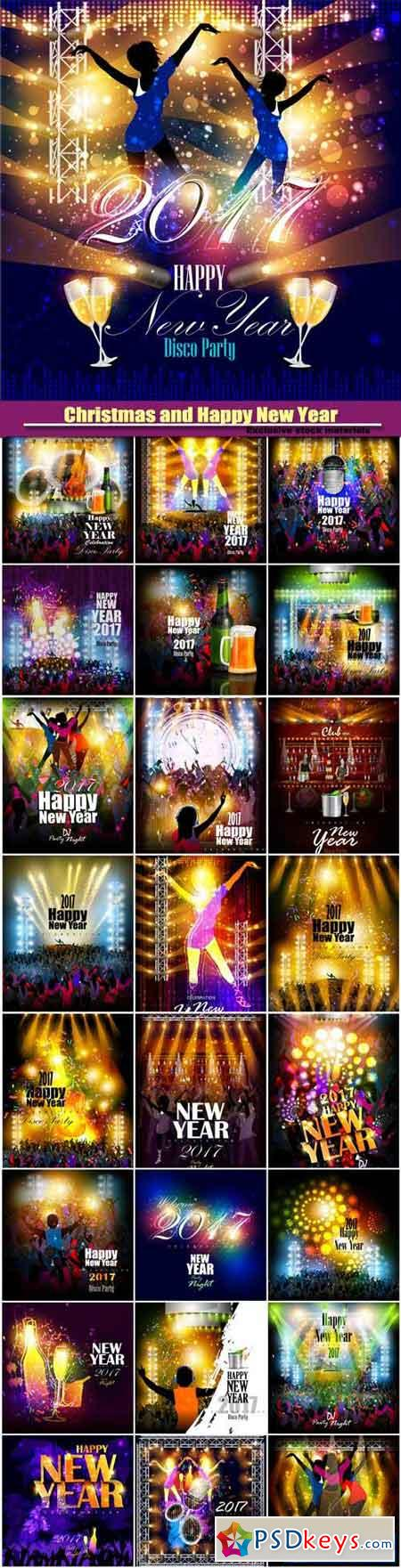 Happy New Year 2017 vector party celebration poster