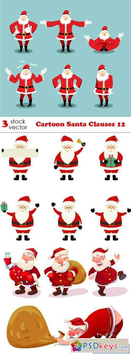Cartoon Santa Clauses 12
