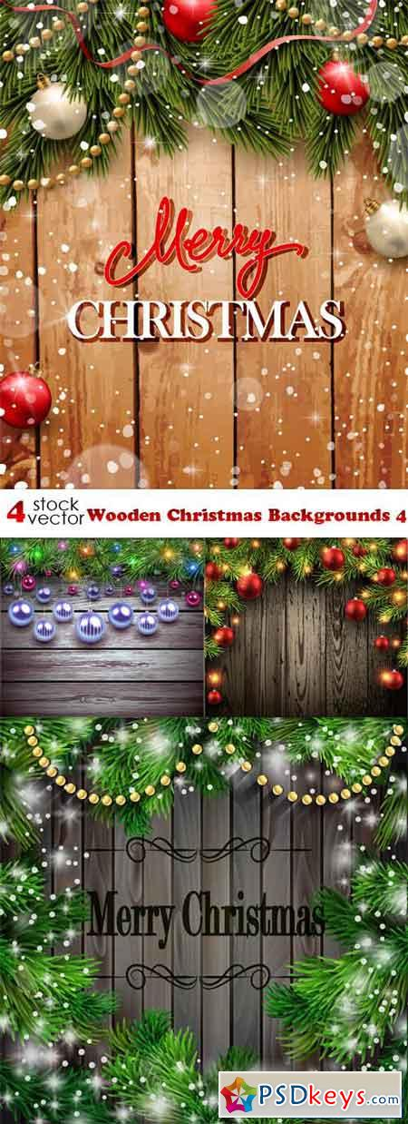 Wooden Christmas Backgrounds 4