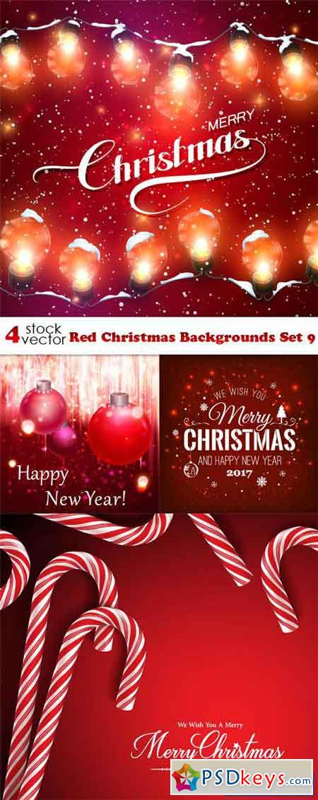 Red Christmas Backgrounds Set 9
