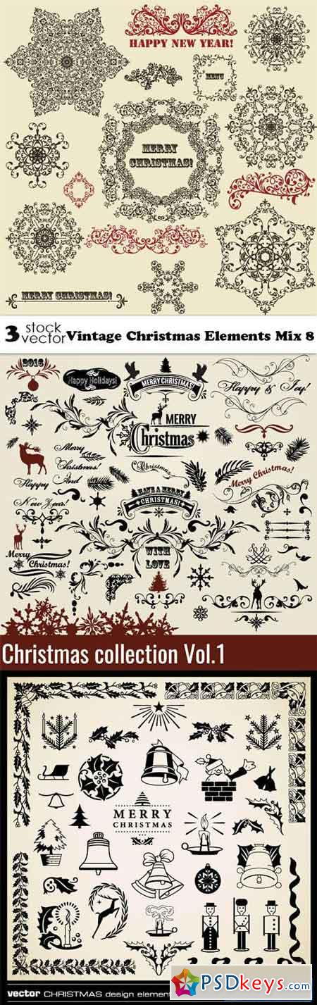 Vintage Christmas Elements Mix 8