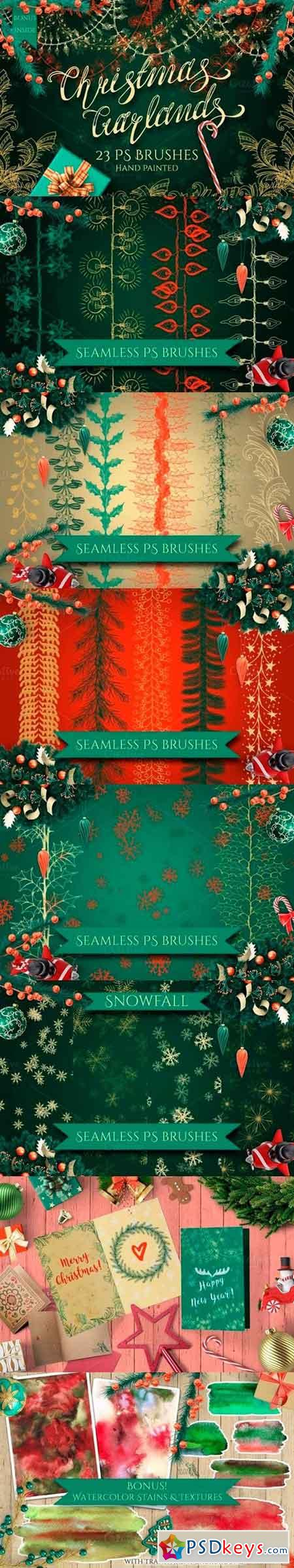 Christmas Garlands PS Brushes 1048896