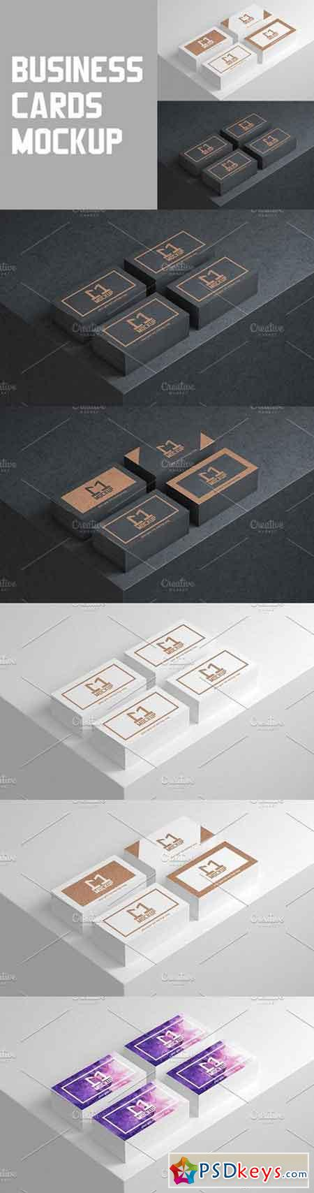 Stacks of Business Cards Mockup 1049372