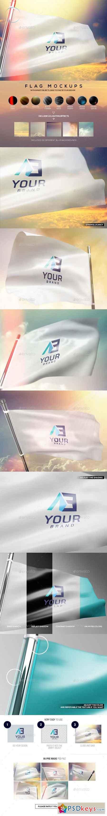 Flag Mockups 13606679