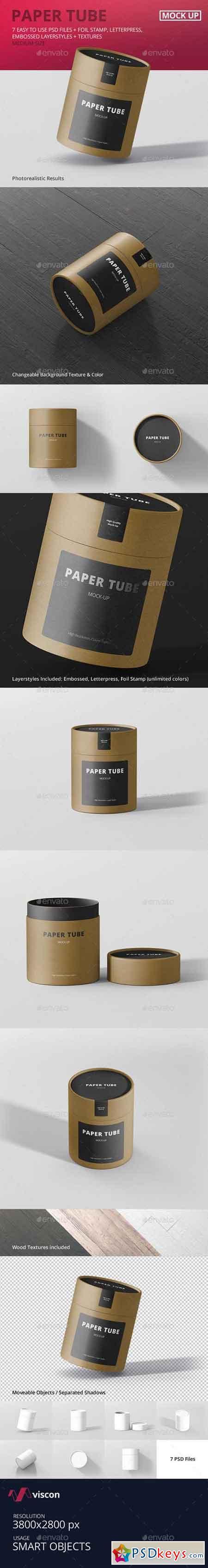 Paper Tube Packaging Mock-Up - Medium 16459367