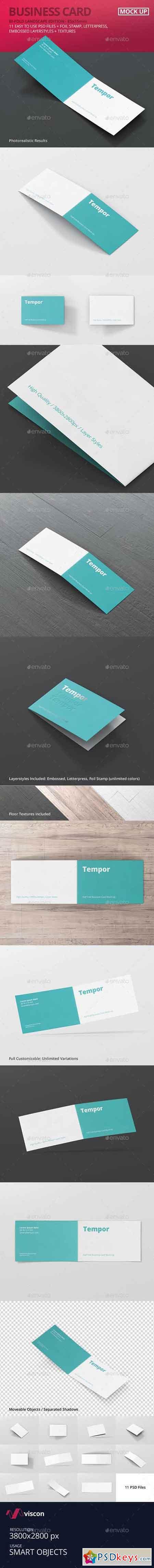 Folded Business Card Mockup 14251026