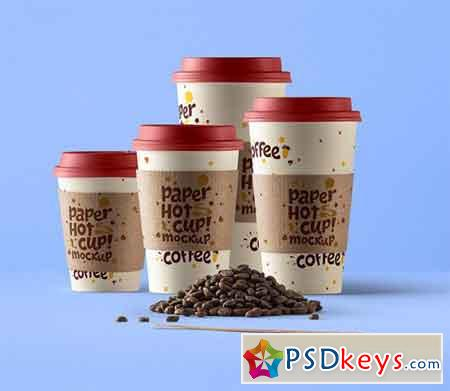 PSD Paper Hot Cup Template Vol 8