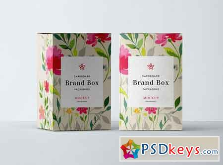 PSD Cardboard Packaging Mockup