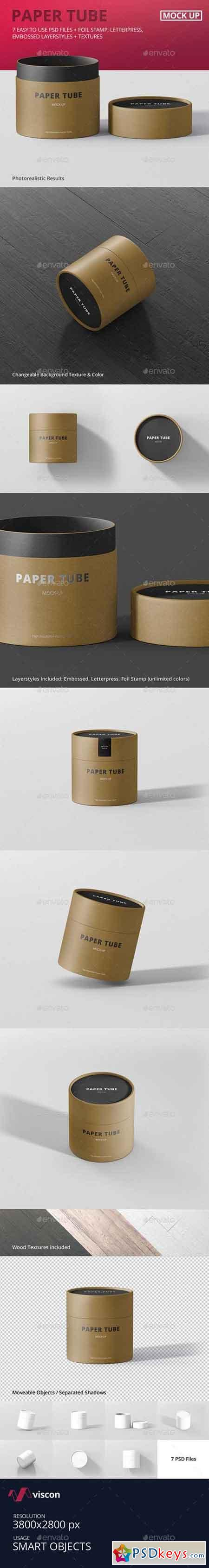 Paper Tube Packaging Mock-Up - Small 16430657