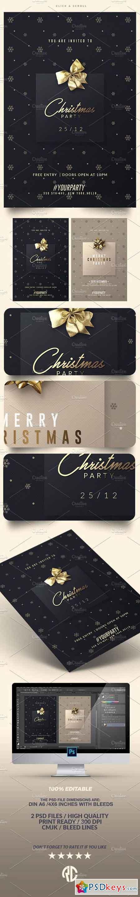 classy christmas invitations