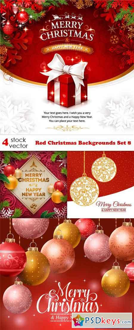 Red Christmas Backgrounds Set 8
