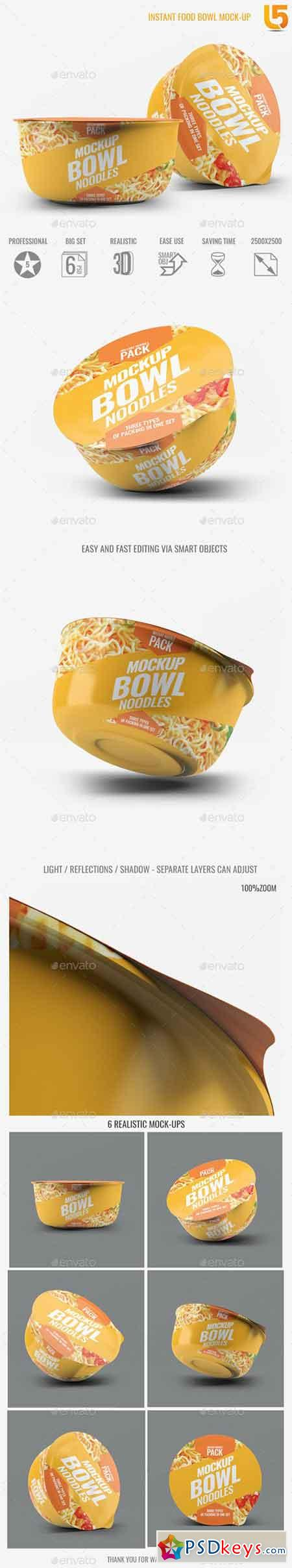 Instant Food Bowl Mock-Up 18611191