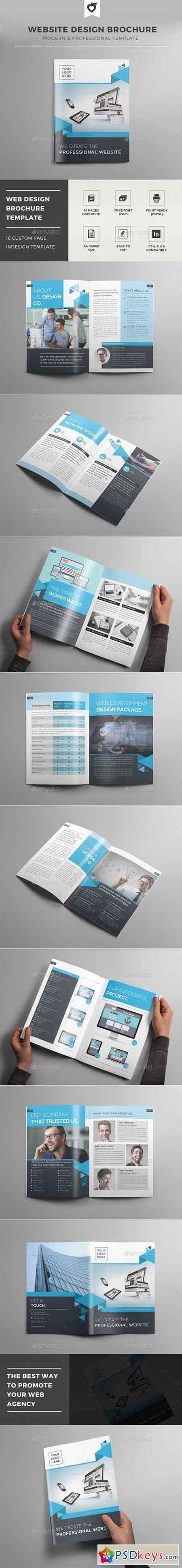 Website Design Brochure Template 12502679