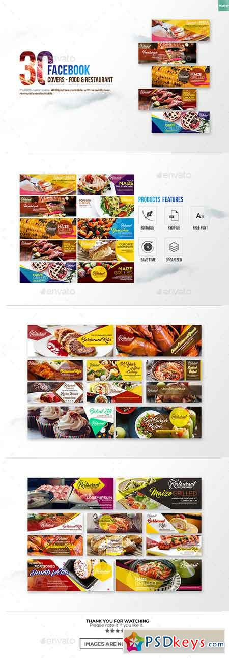 30 Food & Restaurant Facebook Covers 18416276