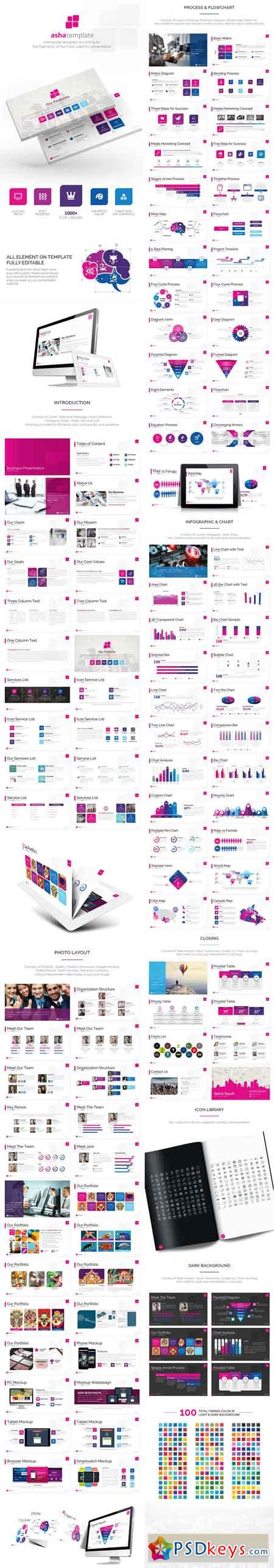 Asha - Business Powerpoint Template 13397598