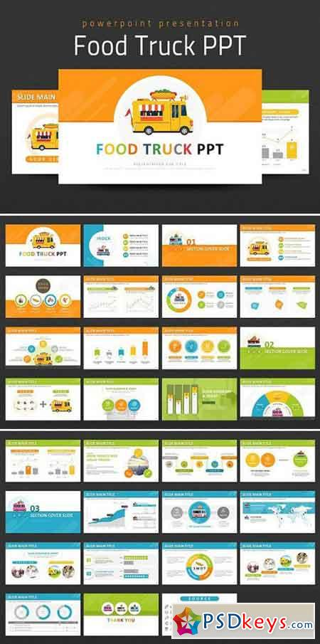 Food Truck Ppt Powerpoint Templates 1007222 Free Download