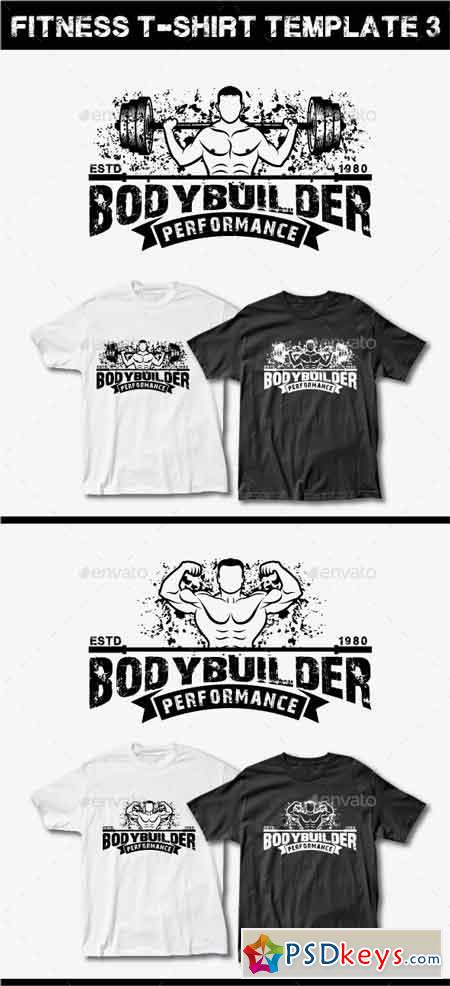 Fitness T Shirt Template 3 11885365 Free Download