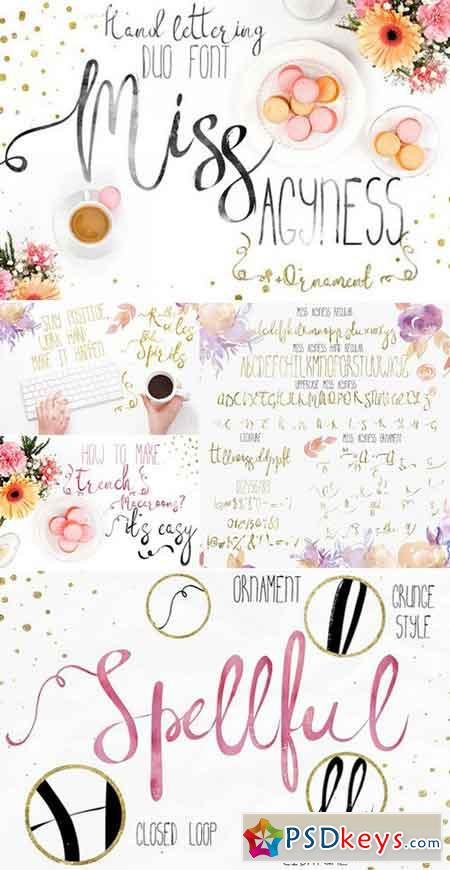 Miss Agyness-DUO font+ornament 1043683