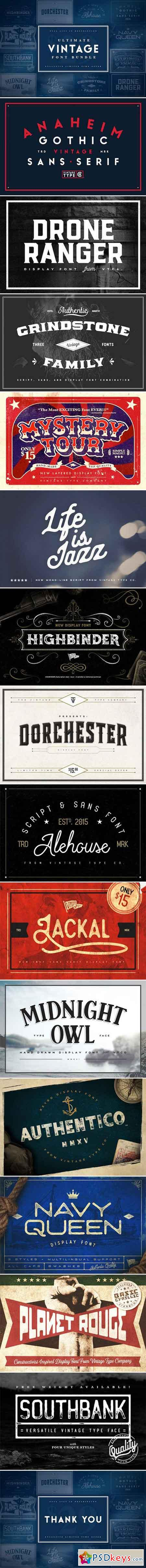 Ultimate Vintage Font Bundle 1046690