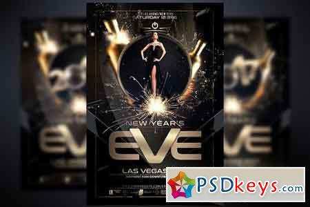 New Year Flyer Template 930220 Free Download Photoshop Vector – New Year Brochure Template